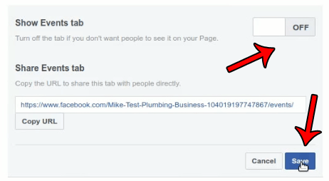 Disabling Tabs in FB pages